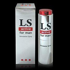 """Спрей-стимулятор для мужчин Lovespray Active - 18 мл.  Спрей с возбуждающим эффектом легко и быстро наносится на головку полового члена и мгновенно впитывается, вызывая активный приток крови и приятное чувство тепла.  Благодаря LOVESPRAY ACTIVE у мужчин повышается чувствительность эрогенных зон, усиливается эрекция и желание. Ощущения во время оргазма становятся более яркими.  <br><br>LOVESPRAY ACTIVE для мужчин смягчает и тонизирует нежную кожу полового органа. Эффект от нанесения спрея длится 15-30 минут. Яркость и длительность действия прямо зависит от количества нанесенного средства. Доза подбирается индивидуально, начиная с минимальной (одно нажатие).  <br><br>Все средства серии """"LOVESPRAY ACTIVE"""" совместимы с изделиями из латекса и синтетических материалов. Современный флакон обеспечивает удобное нанесение и надежное хранение."""