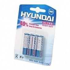 Батарейки AAA Hyundai R03 4 шт  Мизинчиковые батарейки типа ААА Hyundai.