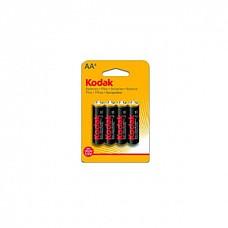 Батарейки AA Kodak R6 4 шт  Пальчиковые батарейки типа АА.