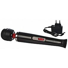 Hitachi Magic Wand Аккумуляторный 2-скоростной Черный  Версия массажера работает как от сети 200 V, так и от встроенной аккумуляторной батареи. Время работы без подзарядки — 1,5-2 часа.