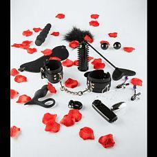 Набор чёрных стимуляторов и аксессуаров LOVETOY STARTER  Великолепный набор  в подарочной коробке из 10 предметов, чёрного цвета.