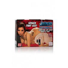 Мастурбатор реалистичный Vivid Raw Assterbator с вибрацией телесный  Мастурбатор реалистичный Vivid Raw Assterbator с вибрацией телесный - нежное удовольствие.