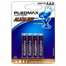 Батарейки AAA Samsung Pleomax LR03 4 шт  Мизинчиковые батарейки Energizer типа ААА, алкалиновые.