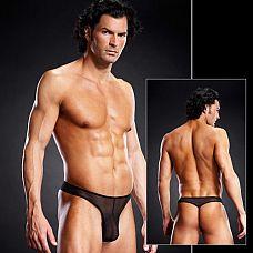 Мужские G-стринги  Мужские G-стринги на бедрах из сетчатой ткани. Трусы с узкой резинкой-поясом. <br>Упаковка: Коробка.