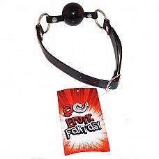 Силиконовый черный кляп-шарик на ремне Black Ballgag  Кляп в виде силиконового шарика черного цвета на ремне из искусственной кожи.