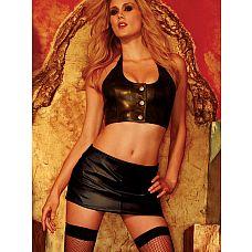 Кожаный топ на пуговицах с открытой спиной  Сексуальный топ из мягкой натуральной кожи на оригинальных металлических пуговицах.