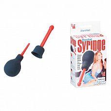 Анальный душ Rectal Syringe  Гигиенический душ красного цвета с дополнительной сменной насадкой, имеющей возможность разбрызгивания.