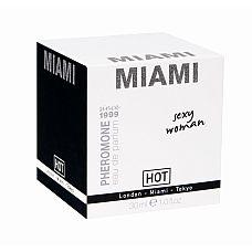 Духи для женщин с феромонами Miami Sexy WOMEN 30 мл 55112  Базовые ноты сочного, сладкого аромата Майами № пачули и жасмин.