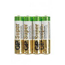 Батарейка ААA (алкалин) в пленке по 4 шт.  Батарейки типа ААА SUPER ALKALINE - цилиндрические и призматические элементы и батареи марганцево-цинковой системы с щелочным электролитом.