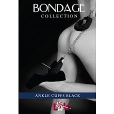 Чёрные меховые оковы на ноги BONDAGE   Меховые оковы на ноги для милых или жестких дерзких игр с Вашей прелестной партнершей.