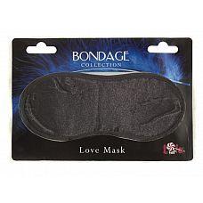 Чёрная маска на глаза BONDAGE   Затеяли опасную секс-игру с наказаниями и испытаниями на верность? Не забудьте о фетиш-игрушках.