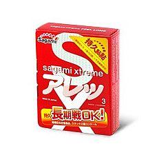 Презервативы Sagami Xtreme FEEL LONG (3 шт.)  С презервативами Sagami Xtreme FEEL LONG вы точно не оставите любимую без удовольствия.