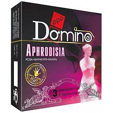 Ароматизированные презервативы Domino Aphrodisia - 3 шт.  Чарующий аромат этих кондомов лишь усилит волшебство плотской любви, творящееся в вашей спальне.