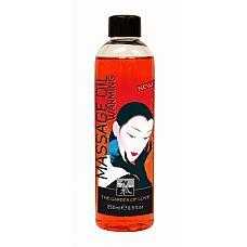 Разогревающее массажное масло SHIATSU  250ml 66006  Массажное масло с легким и приятно стимулирующим, согревающим эффектом
