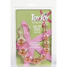 Анальный массажер шарики-цепочка розовый (Toy Joy 9259)  Анальный массажер шарики-цепочка розовый