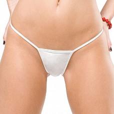 Эротические женские стринги МИНИ белые BRD 100white OS CQ  Миниатюрные трусики-стринги белого цвета.