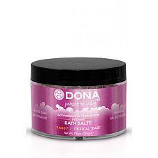 """Соль для ванны DONA Bath Salt Sassy Aroma: Tropical Tease 215 г  Соль для ванны DONA Bath Salt  Tropical Tease с ароматом """"Страсть""""."""