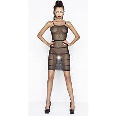 Эффектное платье-сетка с горизонтальными полосами  Эффектное платье-сетка с горизонтальными полосами.