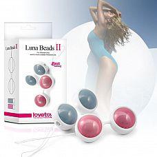 Двухцветный набор вагинальных шариков Luna Beards II  Двухцветный набор вагинальных шариков Luna Beards II.