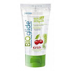 Гель-лубрикант на водной основе с ароматом вишни BIOglide Kirsch - 80 мл.  Гель-лубрикант на водной основе, с приятным запахом вишни, хорошо смывается водой.