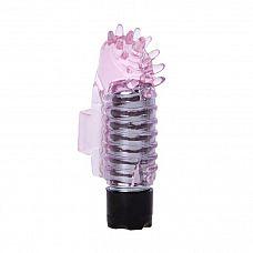Розовый вибростимулятор с шипиками на палец  Самый удобный вариант игрушек для девушек! Маленький стимулятор надевается на пальчик.