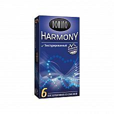 Текстурированные презервативы Domino Harmony - 6 шт.  6 текстурированных презервативов из натурального латекса, со смазкой .