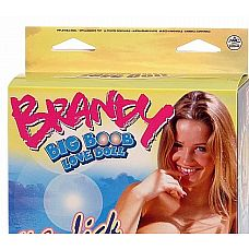 Кукла с тремя отверстиями Brandy Bigboob Love Doll   Шальная красотка с белокурыми волосами и пышной грудью – шуточный подарок жениху на мальчишник.