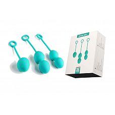 Набор зелёных вагинальных шариков Nova Ball со смещенным центром тяжести  В этом наборе цвета сочной мяты есть всё необходимое для выполнения упражнений Кегеля.