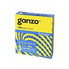 Презервативы Ganzo Classic № 3  Презервативы Ganzo Classic № 3 классической формы с накопителем в обильной смазке на водной основе.