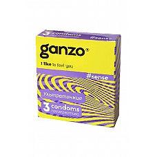 Презервативы Ganzo Sense № 3  Презервативы Ganzo Sense № 3 особо тонкие , с накопителем в обильной смазке на водной основе.