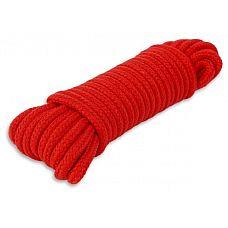 Красная веревка для связывания - 10 м.  Хотите связать своего партнера? Это запросто можно сделать с помощью этой верёвки.