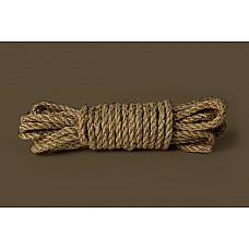 Пеньковая верёвка для бондажа Shibari Rope - 10 м.  Пеньковая веревка для бондажа .