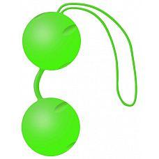 Зелёные вагинальные шарики Joyballs Trend  Два шарика, внутри каждого - шарик меньшего диаметра.