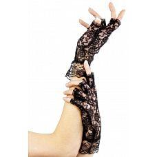 Короткие кружевные перчатки с открытыми пальчиками  Короткие перчатки без пальчиков из плотного кружева станут прекрасным дополнением к любому комплекту.