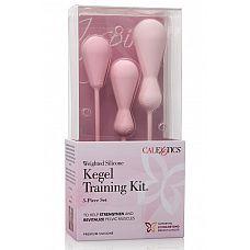 Набор вагинальных кегель из силикона из 3 штук разного размера INSPIRE WGHT SIL KEGL TRAIN KT  Набор силиконовых массажеров способствует укреплению и активизации вагинальных мышц при помощи упражнения Кегеля.