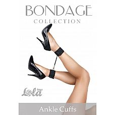 Поножи Bondage Collection Ankle Cuffs Plus Size  Поножи Bondage Collection Ankle Cuffs Plus Size выполнены на липучках, а потому подходят даже для самых пышных ножек.