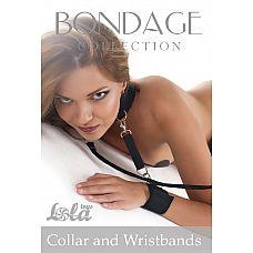 Ошейник с наручниками Bondage Collection Collar and Wristbands Plus Size  Ошейник с наручниками Bondage Collection Collar and Wristbands Plus Size предотвратит любое сопротивление.