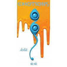 Голубые вагинальные шарики Emotions Gi-Gi  Вагинальные шарики Gi-Gi из серии Emotions - это изысканные, гипоаллергенные шарики со смещенным центром тяжести, которые помогут Вам изучить свое тело и подготовить к незабываемым эмоциям с партнером.