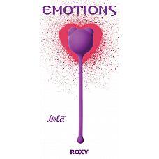 Фиолетовый вагинальный шарик Emotions Roxy   Вагинальный шарик Roxy легко и приятно использовать для интенсивной тренировки влагалища и массажа внутренних областей малого таза.