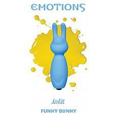 Голубой мини-вибратор Emotions Funny Bunny  Миниатюрная вибропуля Funny Bunny легко поместится в сумочке или в кармане и всегда будет под рукой в нужный момент.