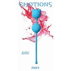 """Вагинальные шарики Emotions Foxy turquoise 4001-03Lola  """"Вагинальные шарики Foxy легко и приятно использовать для интенсивной тренировки влагалища и массажа внутренних областей малого таза."""