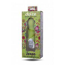 Нежно-зелёный вибратор Dolce Jaxon - 12,5 см.  Jaxon   отличный спутник для популярной девушки любого возраста.