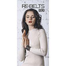 Резной браслет Gero Black  Кожаный браслет с красивым кружевным узором на женскую ручку.