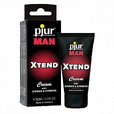 Мужской крем для пениса pjur MAN Xtend Cream - 50 мл.  Крем для стимуляции кровообращения мужского пениса.