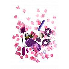 Эротический набор Fantastic Purple Sex   ToyJoy представляет набор, предназначенный для романтических пар, которые хотят зажечь страсть   В набор входят: Наручники с мягким покрытием Вибратор - 15,5х2,5 см (работает от 2 батареек ААА, в комплект не входят) Виброяйцо - 5,5х2,5 см(работает от 2 батареек АА, в комплект не входят) Массажная свеча Метелочка-перышко Виброкольцо Лубрикант (2 пакетика по 4 мл.