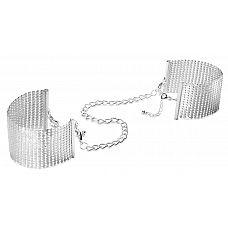 Серебристые наручники-браслеты Desir Metallique Handcuffs  Великолепное украшение для нежных женских запястий.