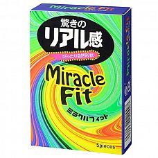 Презервативы Sagami Xtreme Miracle Fit - 5 шт.  Прозрачные презервативы с розовым оттенком и гладкой поверхностью, покрыты смазкой с нейтральным ароматом для комфортного использования.