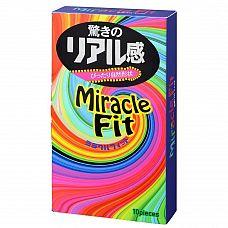 Презервативы Sagami Xtreme Miracle Fit - 10 шт.  Прозрачные презервативы с розовым оттенком и гладкой поверхностью, покрыты смазкой с нейтральным ароматом для комфортного использования.