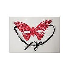 Кружевная маска в форме бабочки  Красная кружевная маска Бабочка в венецианском стиле.