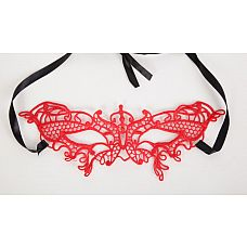 Ажурная маска в венецианском стиле  Кружевная маска в венецианском стиле с многочисленными узорами.
